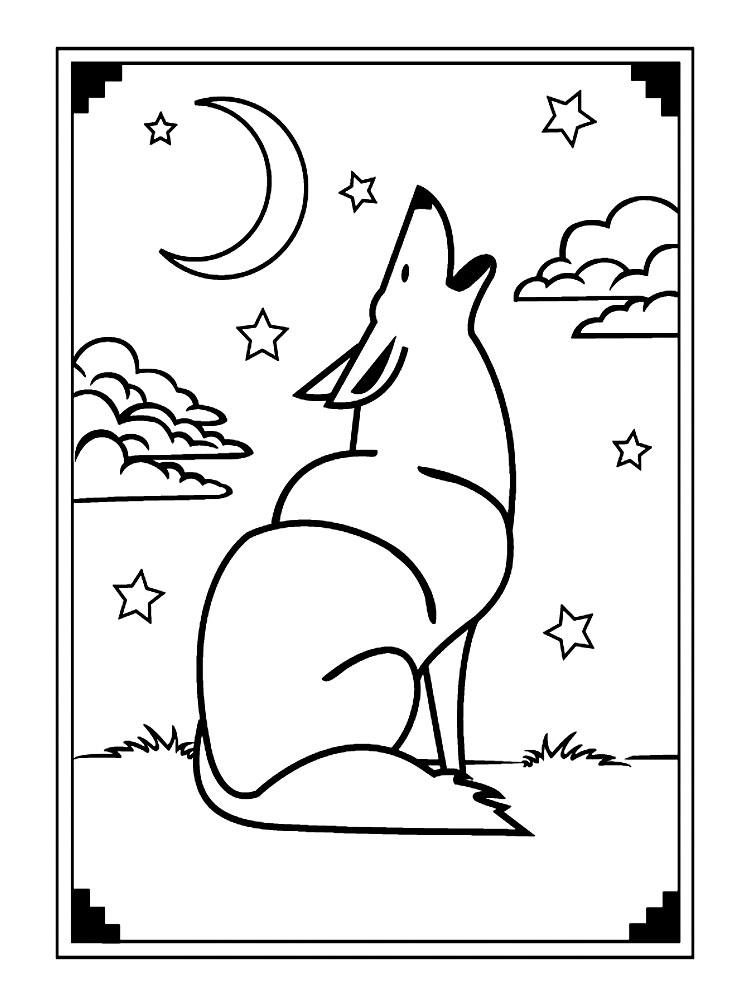 Раскраски волки для малышей и детей дошкольного возраста